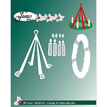 By Lene Cutting & Embossing Dies Advent Wreath