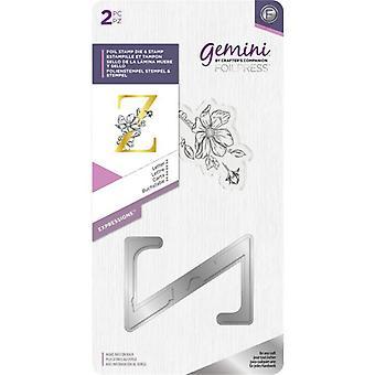 Gemini Letter Z Expressions Foil Stamp Die & Stamp