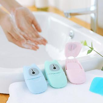 Portable Washing Hand Wipes, Paper Soap - Scented Slice Sheets Foaming Box
