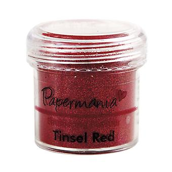 Poudre d'embossage Papermania - Tinsel Red