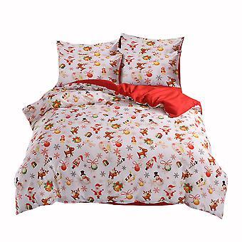 YANGFAN Santa Claus Pattern Christmas Bedding Bed Set