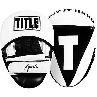 Titel Boxing Attack Big-T Training Punch Mitts 2.0 - Weiß/Schwarz