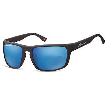 Sonnenbrille Unisex    Kat.3 matt schwarz/blau (SP314C)
