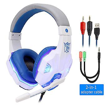 Ammatillinen Led Light Gamer Headset For Computer - Ps4 Gaming Kuulokkeet