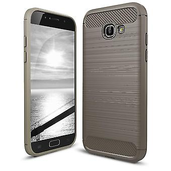 Shell for Samsung Galaxy A5 (2017) / A520 Case Protection Slim Armor Carbon Fiber Grey