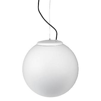 1 luce grande globo all'aperto soffitto ciondolo chiaro bianco IP44, E27