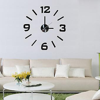 Modern Home Self Adhesive DIY 3D Wall Clock - Executive