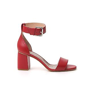 Red Valentino Tq2s0a47fns329 Women's Red Leather Sandals