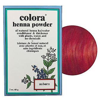 Colora Henna Powder Natural Organic Dye Hair Colour - Auburn