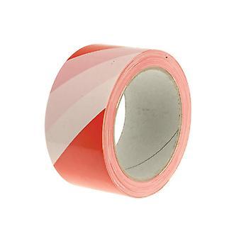 Faithfull Economy Self-Adhesive Hazard Tape Red/White 50mm x 33m 06025033RW
