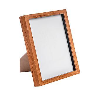 Nicola Spring Dark Wood Effect 8x10 Box Photo Frame - Standing & Hanging