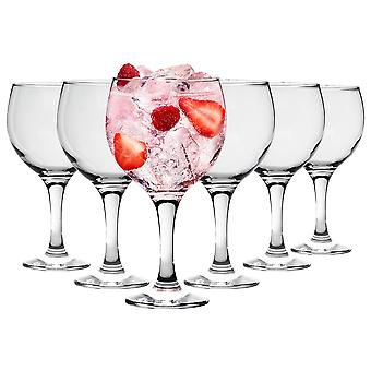 6 Piece Copa de Balon Gin Glass Set - Large Spanish Style Balloon Glasses for Gin and Tonic - 645ml