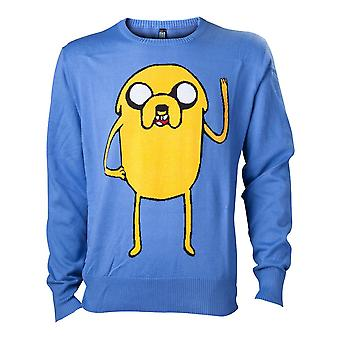 Adventure Time Jake Sweatshirt Male Large Blue (KW0GDBADV-L)