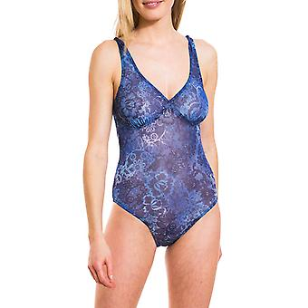 Ramona tan through support top swimsuit