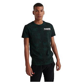 Superdry Camo International All Over Print T-Shirt - Enamel Green