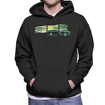 Austin Healey 20 Green British Motor Heritage Men's Hooded Sweatshirt