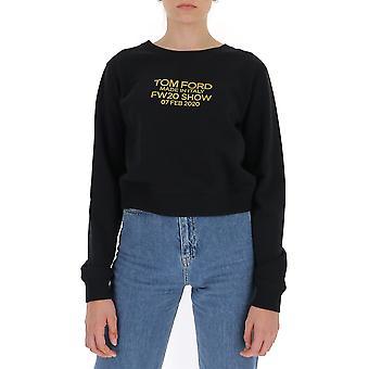 Tom Ford Flj007fax769xlbgo Damen's schwarze Baumwolle Sweatshirt