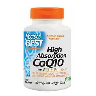Doctors Best High Absorption CoQ10 with BioPerine, 400 mg, 180 Vcaps