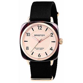 Briston Clubmaster Chic Acetate 3 Hand Watch - Black/Rose Gold