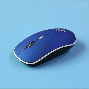 Stuff Certified® G-1600 Wireless Mouse Noiseless - Optical - Ambidextrous and Ergonomic - Blue