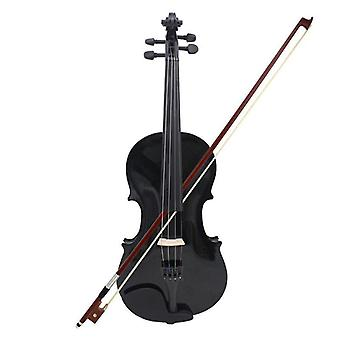 4/4 Full Size Acoustic Violin With Case , Bow And Rosin