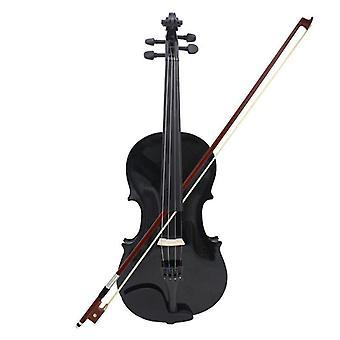 4/4 Full Size Akustik Violine mit Gehäuse, Bogen und Rosin