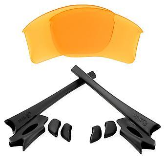 Ersättningslinser & Kit för Oakley Flak Jacket XLJ Gul & Svart Anti-Scratch Anti-Glare UV400 av SeekOptics