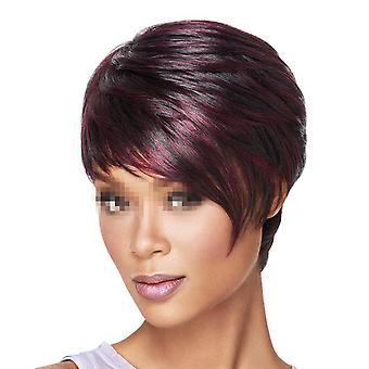 African Style Short Straight Hair Wig Cap