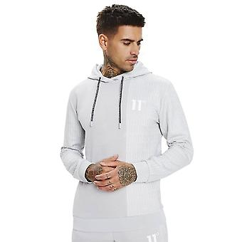 Eleven Degrees 11 Degrees 11d-335-232 Eclipse Cut & Sew Mixed Fabric Overhead Hoodie - Vapour Grey