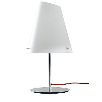 Europe Ermes - Bordslampa med skugga, Krom, Opal, E27