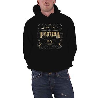 Pantera Hoodie 101 Proof band logo Official pullover mens black