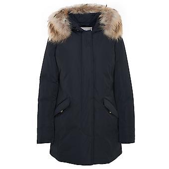 Woolrich Wwou0296frut0573324 Women's Blue Polyester Down Jacket