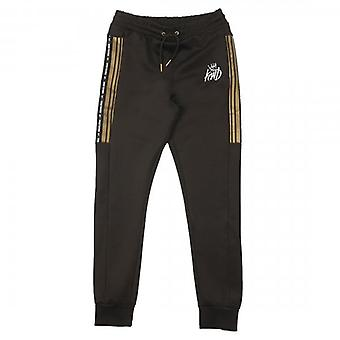Kings Will Dream Vez Black Poly Track Bottoms