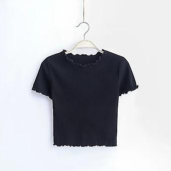 Vintage Wood Ears O Neck Short Sleeve T-shirt For Woman