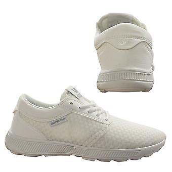 Supra Hammer Run Lace Up Mens Casual Running Trainers White 08128 154 B32E