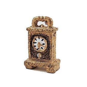 בית הבובות זהב מפואר &; שעון כרכרה שחורה 1:12 אביזר בקנה מידה