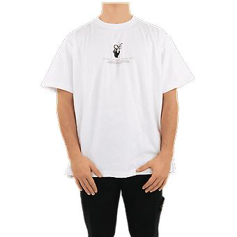 OFF WHITE White Offf Graff S/S Over Tee White OMAA038R21JER0070141 Top