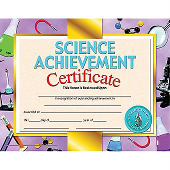 """Science Achievement Certificate, 8.5"""" X 11"""", Pack Of 30"""