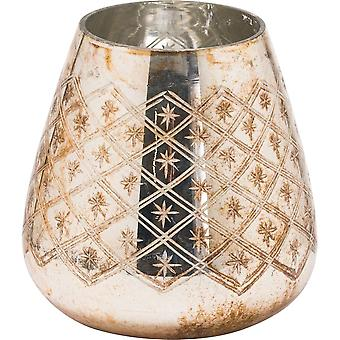 The Noel Collection Burnished Christmas Candle Holder