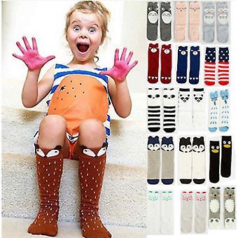 ارتفاع كعب الكرتون الدافئة الطفل القطن الجوارب / الركبة