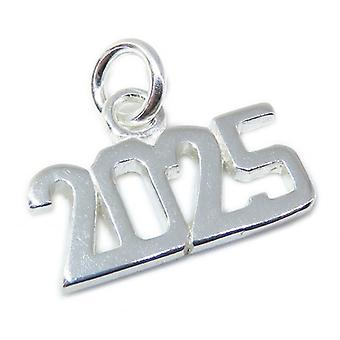 2025 Year Sterling Silver Charm .925 X 1 Years Graduation Anniversary - 8636