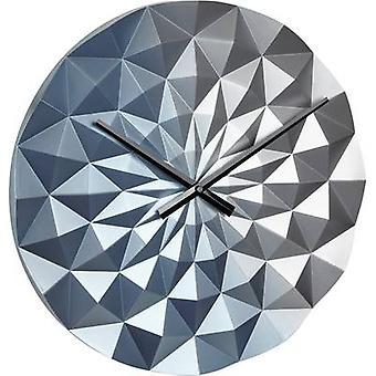 TFA دوستمان 60.3063.06 كوارتز الجدار ساعة 396 ملم × 44 ملم الأزرق (معدني)