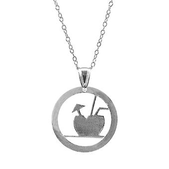 ANCHOR & CREW Fresh Coconut Disc Paradise Silver Necklace Pendant