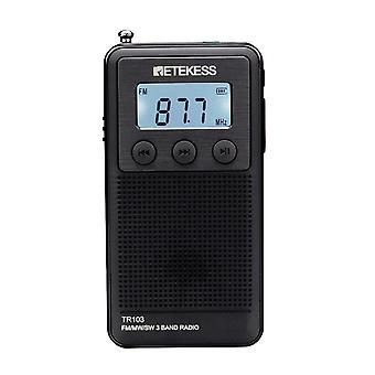 Retekess TR103 3Band Radio FM MW SW Radio LCD Display SD Card MP3 Player