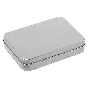 Small Metal Tin Silver Storage Box Case For Money Coin/candy/key