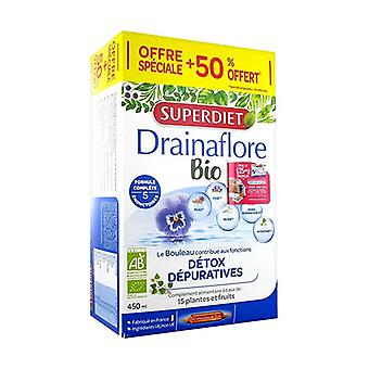 Drainaflore BIO + 50% free 30 ampoules of 15ml