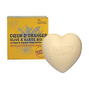 Organic Orange and Shea Butter Heart 200 g