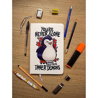 Psycho Penguin Youre aldrig ensam A5 Notebook