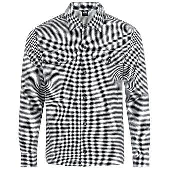 BOSS Narsete Relaxed Fit Overshirt - Black Patterned