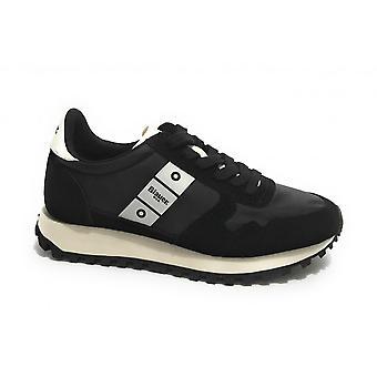 Shoes Blauer Sneaker Running Merrill Suede/ Nylon Black Ds21bu01